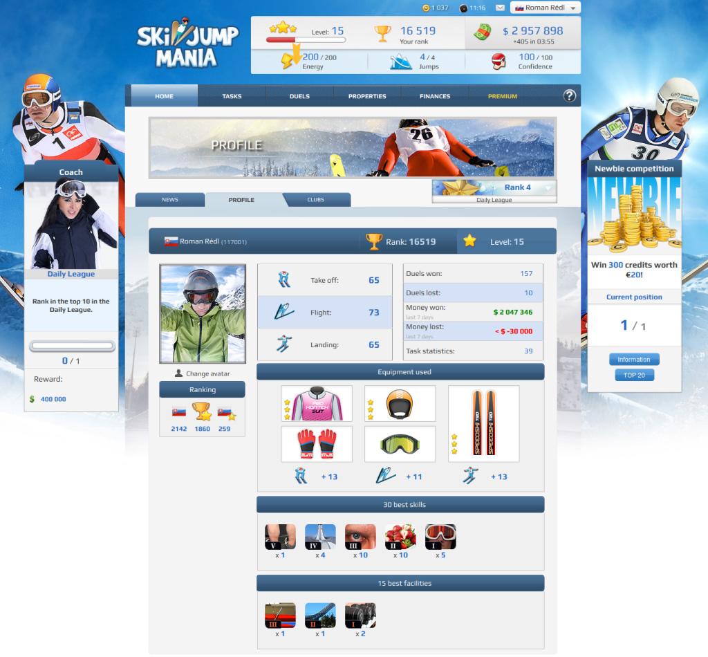 online ski